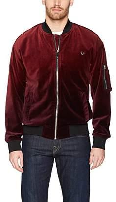 True Religion Men's Dip Dye Velvet Bomber Jacket