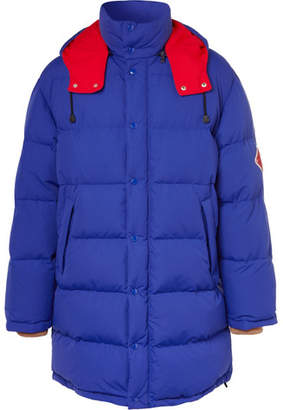 Gucci Logo-Appliquéd Nylon Quilted Down Jacket