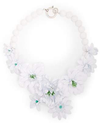 Isabel Marant Aloha Stone Flower Necklace - Womens - White