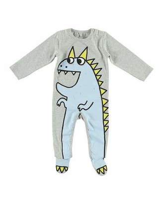 Stella McCartney Dragon Cartoon Graphic Footie Pajamas, Size 3-9 Months