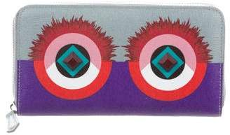 Fendi Leather Monster Eyes Wallet