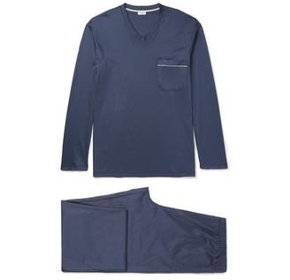 Zimmerli Mercerised Cotton-Jersey Pyjama Set $250 thestylecure.com