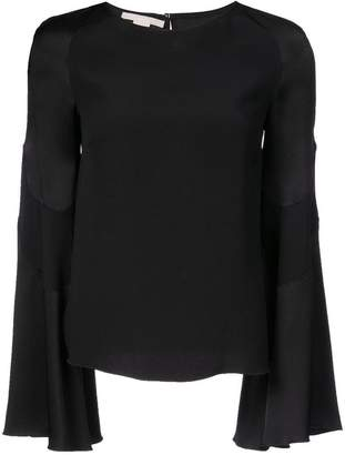 Antonio Berardi fluted sleeve blouse
