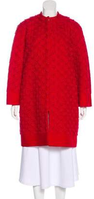 Valentino Wool & Silk-Blend Coat w/ Tags