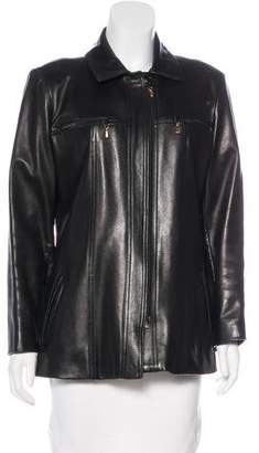 St. John Structured Leather Jacket