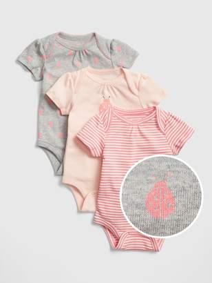 27a644fe Gap Baby Ladybug Strip Bodysuit (3-Pack)