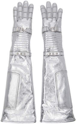Calvin Klein Silver Long Space Gloves