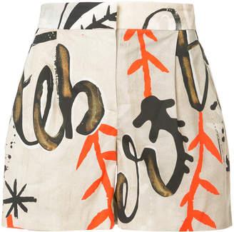 Alberta Ferretti printed shorts