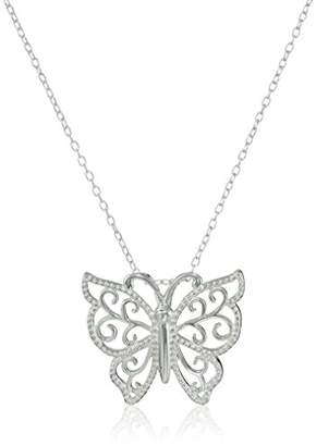 Hallmark Jewelry Stories & Relationships Sterling Butterfly Pendant Necklace