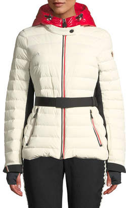 Moncler Bruche Channel-Quilted Puffer Coat