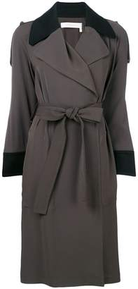 See by Chloe contrast trim trench coat