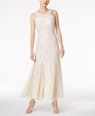 R & M Richards Embellished Lace Gown $129 thestylecure.com