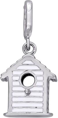 Laura Ashley Jewelry Sterling Silver Birdhouse Enamel Charm