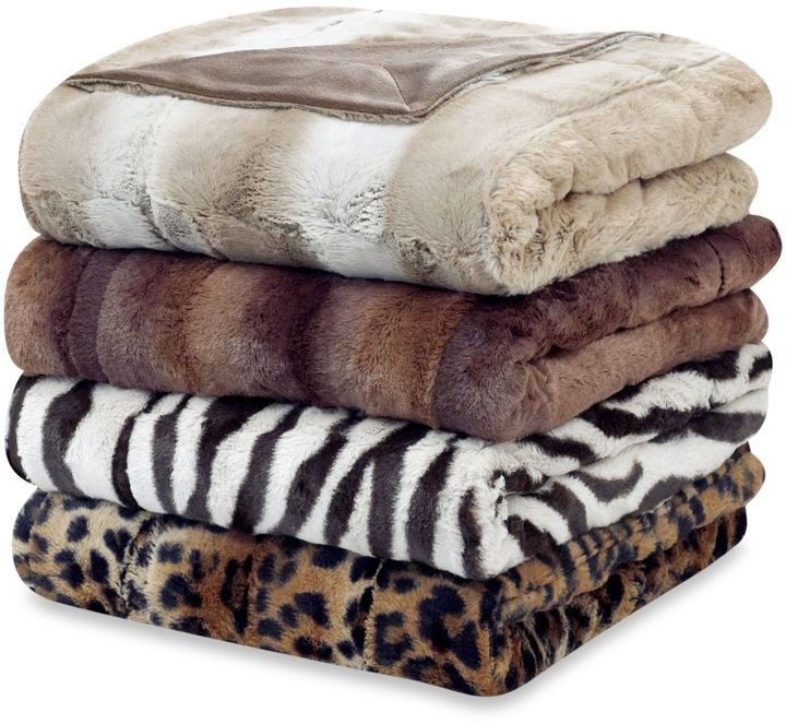 Bed Bath & Beyond Faux Fur Oversized Reversible Throw