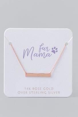 francesca's Fur Mama Rose Gold Bar Necklace - Rose/Gold