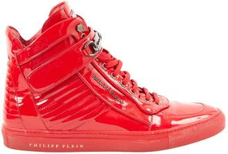 Philipp Plein Patent leather high trainers