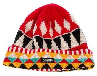 Supreme Geometric Knit Beanie
