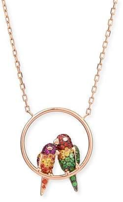 Boucheron Nuri the Cockatoo 18k Rose Gold Pendant Necklace