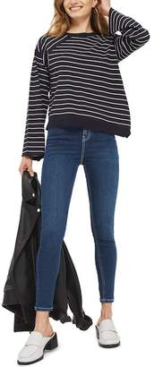 Topshop Asymmetrical Hem Sweater