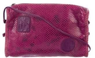 Carlos Falchi Snakeskin Crossbody Bag
