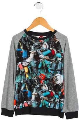 Paper Wings Boys' Digital Printed Crew Neck Sweatshirt w/ Tags