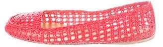 Prada Woven Leather Flats
