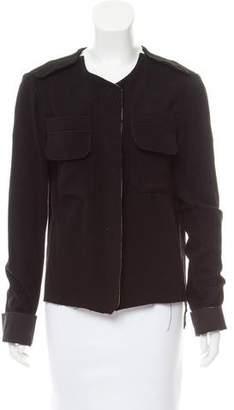 Ter Et Bantine Raw-Edge Trimmed Cashmere Jacket