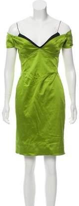Zac Posen Off-The-Shoulder Mini Dress