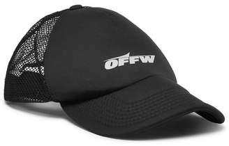 Off-White Off White Logo-Print Neoprene and Mesh Cap - Men - Black