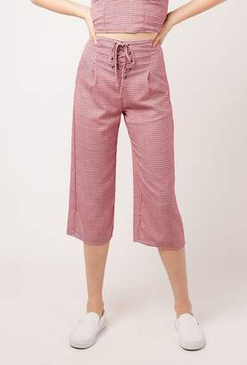 Azalea Gingham High Waist Capri Pants
