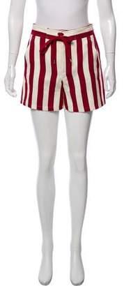 RED Valentino Striped Mini Shorts