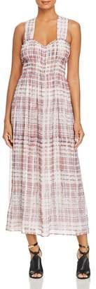 Burberry Delilah Silk Plaid Maxi Dress
