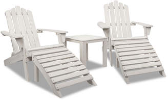 Adirondack Dwell Outdoor 2 Seater Slydes Fir Wood Chair & Table Set