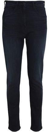 High-Rise Faded Slim-Leg Jeans