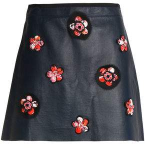 Victoria Beckham Victoria Leather Mini Skirt
