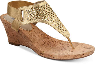 White Mountain Arnette Embellished Wedge Sandals, Created for Macy's Women's Shoes