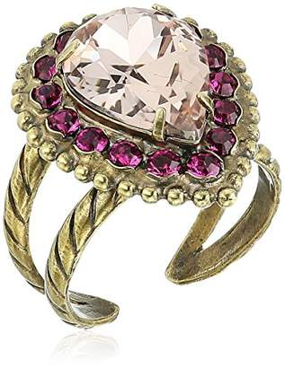 Sorrelli Womens Radiant Sunrise Adorned Teardrop Ring