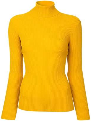 Milly ribbed roll neck top