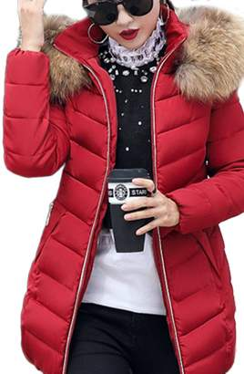 Liouliu Women's Down Alternative Quilted Padded Thicken Puffer Coat with Hood