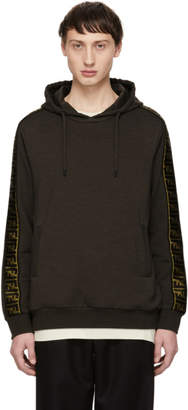 Fendi Brown Forever Tape Hoodie