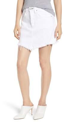 McGuire Izabel Angled Hem Denim Skirt (White Lie)