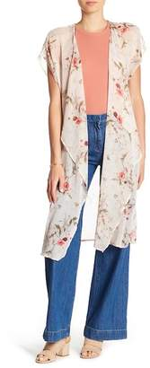 Bobeau B Collection by Brianna Floral Print Kimono