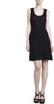 M Missoni Zigzag-Knit A-line Skirt, Black