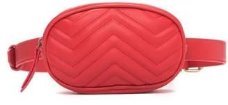 Zoey Pink Haley Faux Leather Belt Bag