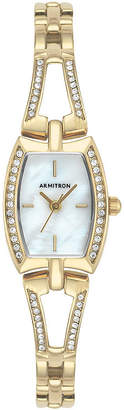Armitron Womens Gold Tone Bracelet Watch-75/5502mpgp