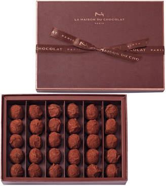 La Maison du Chocolat 30-Piece Dark Chocolate Truffles Box