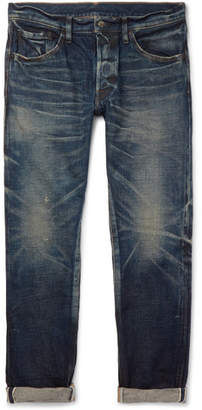 Co Fabric-Brand & Aksel Slim-Fit Distressed Selvedge Denim Jeans