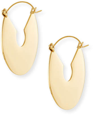 Fallon Flat Plate Hoop Earrings