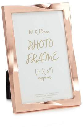 Debenhams Home Collection - Rose Gold Twisted Photo Frame