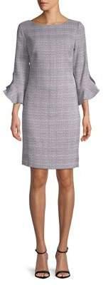 Karl Lagerfeld Paris Plaid Tulip Sheath Dress